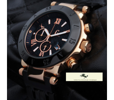 HK251 GUESS COLLECİTON ROSE GOLD SİYAH PVD METAL KORDON