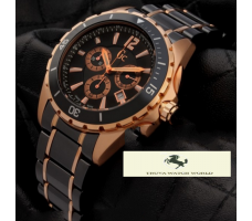 HK1337 GUESS COLLECTİON GCX76004G2S SİYAH GOLD ERKEK SAATİ
