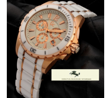 HK1335 GUESS COLLECTİON X76001G1S BEYAZ GOLD ERKEK SAATİ