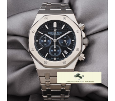 HK946 AUDEMARS PİGUET ROYAL OAK CHRONOGRAPH 41 MM MAVİ KADRAN