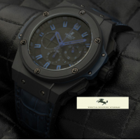 HK1284-HUBLOT KİNG POWER MAVİ