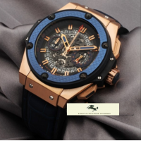 HK852 HUBLOT GENEVE BİG BANG KİNG SKELETON MAVİ