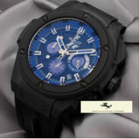 HK953 HUBLOT GENEVE KİNG POWER FOMULA 1 MAVİ KADRAN